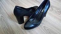 Туфли Hongquan D9-11 черная кожа, фото 1