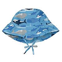 I Play - Солнцезащитная панамка Light Blue Whale League, 0-6 месяцев