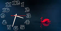 """Оригинальные Часы-картина """"Лебедь"""" 30х60 см"""
