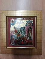 Фарфоровая икона Георгий Победоносец Heinrich Германия