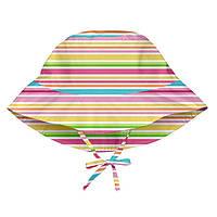 I Play - Солнцезащитная панамка Light Pink Multistripe, 0-6 месяцев