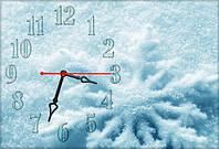 """Оригинальные Часы-картина """"Снежинка"""" 30х45 см"""