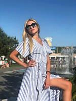 Платье полоска в расцветках 33770, фото 1