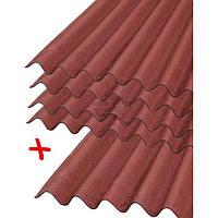 Лист волнистый битумный Onduline Лист битумный DIY красный 2000х760 мм