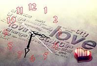 """Часы-картина """"Love"""" 30х45 см оригинальный подарок любимой"""