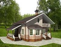 Загородный домик из каркаса под ключ построть в Днепропетровске
