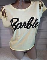 Футболка рваная женская Barbie