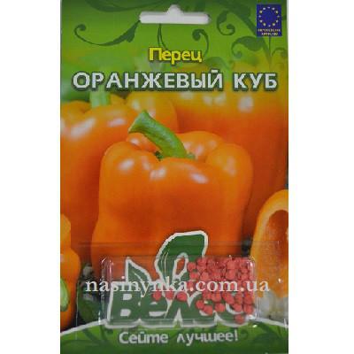 ТМ ВЕЛЕС Перець солодкий Помаранчевий куб 50шт инкр.