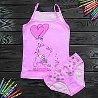 Комплект детский Donella с мишкой розовый для девочки на 2/3 года