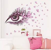Виниловая наклейка для декора на стену Глаза  135*65см