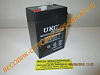 "Аккумулятор (АКБ) Кислотно-свинцовый ""UKC"" WST 6v/4,5a размер 100х70х45мм"