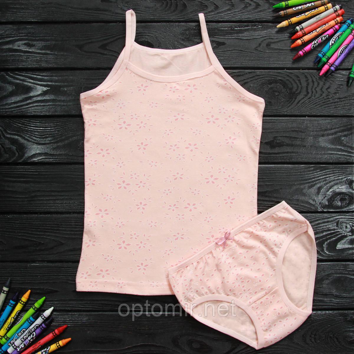 Комплект детский Donella с цветами персиковый для девочки на 2/3 года