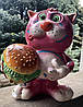 Копилка: кот с гамбургером