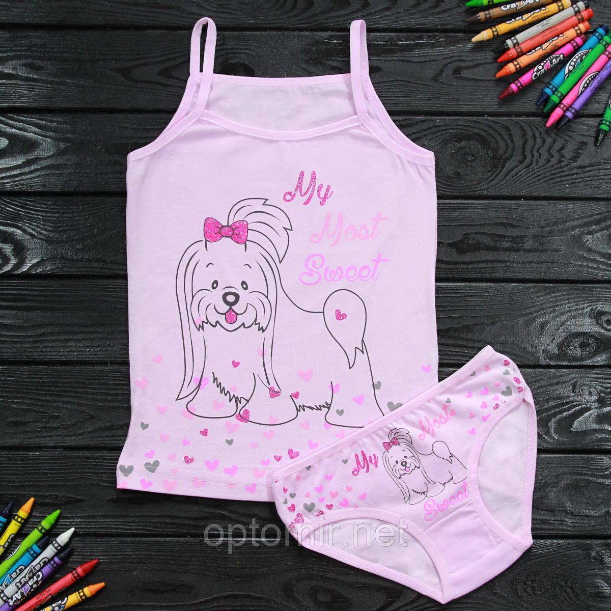 Комплект детский Donella с собачкой розовый для девочки на 2/3 года