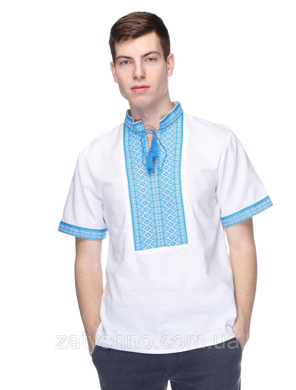 Мужская вышиванка с коротким рукавом, фото 1