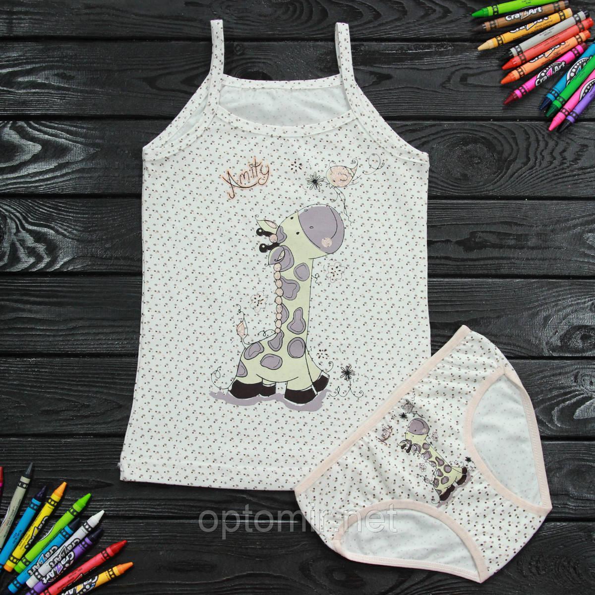 Комплект дитячий Donella з жирафом бежевий для дівчинки на 6/7 років   1 шт.