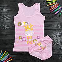 Комплект дитячий Donella з жирафом рожевий для дівчинки на 6/7 років | 1 шт.