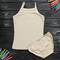 Комплект дитячий Donella з зірками світло-коричневий для дівчинки на 6/7 років