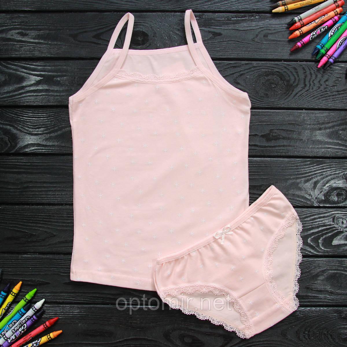 Комплект дитячий Donella з зірками світло-рожевий для дівчинки на 6/7 років