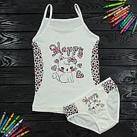 Комплект дитячий Donella з кошеням білий для дівчинки на 4/5 років