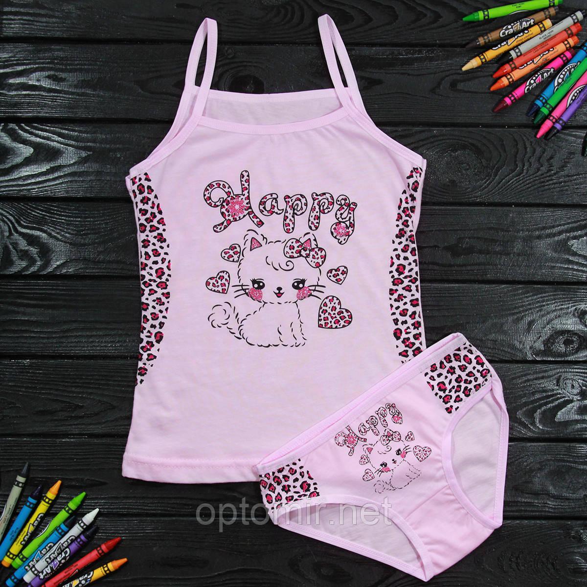 Комплект детский Donella с котенком розовый для девочки на 4/5 лет