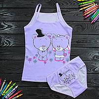Комплект детский Donella с мишкой синий для девочки на 4/5 лет