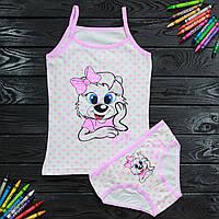 Комплект детский Donella с принтом светло-розовый для девочки на 6/7 лет