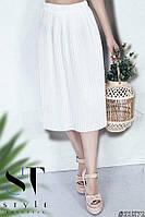 Плиссированная юбка миди , фото 1