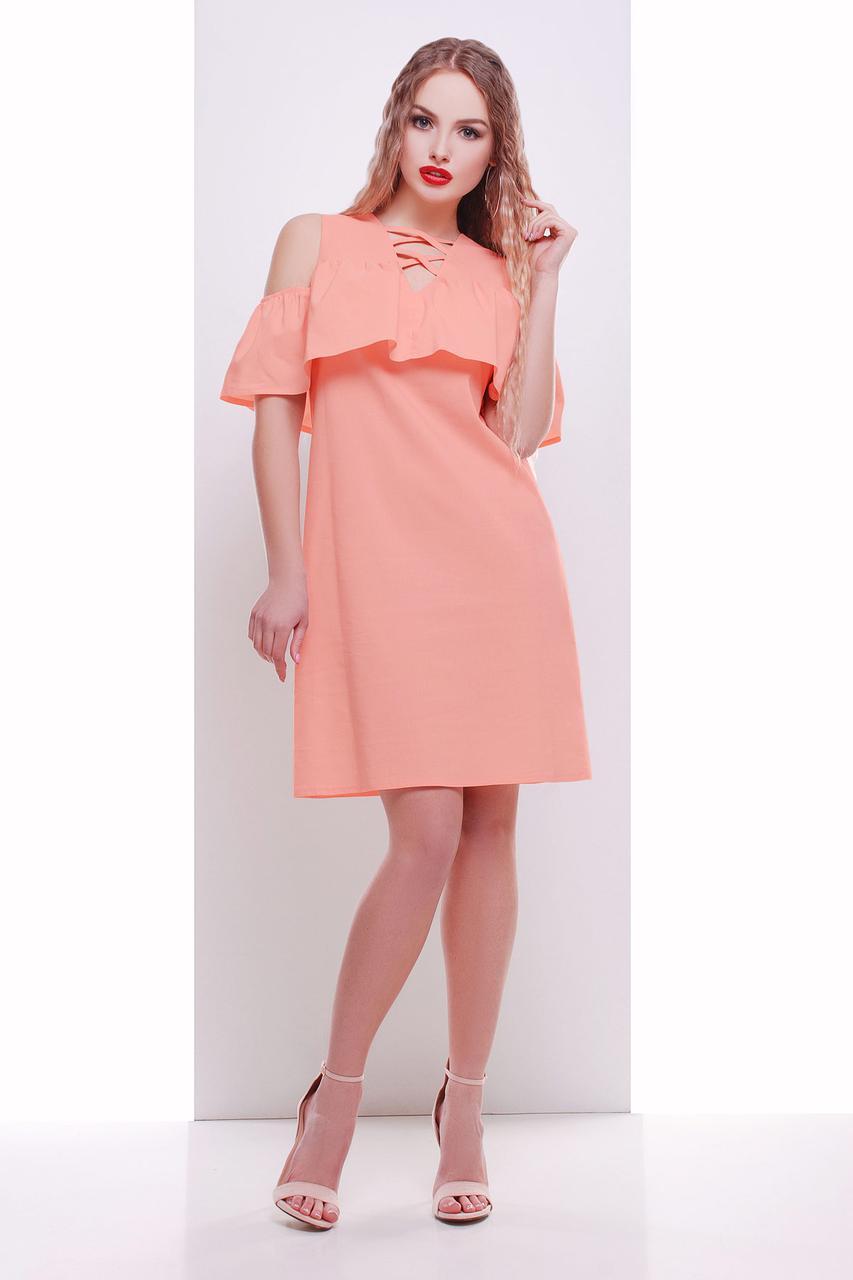58553f49e33 ... фото Женское платье летнее Волан р-р 42