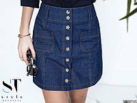 Джинсовая юбка с заклепками , фото 1