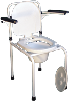 Стул туалетный Днепр с откидными подлокотниками НТ-04-004