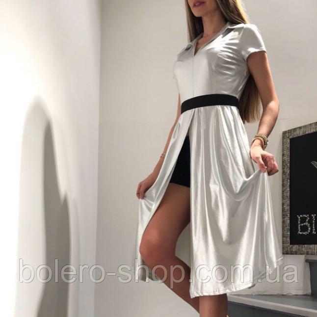 Платье летнее серебряное Италия