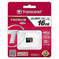 Карта памяти Transcend microSD 16GB class 10 UHS-I