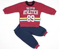 Теплый зимний спортивный костюм бордовым цветом для мальчика, фото 1