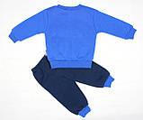 Теплый зимний спортивный костюм синим цветом для мальчика, фото 3