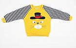 """Теплый спортивный детский костюм желто-синего цвета для мальчика """"Кот-матрос"""", фото 3"""