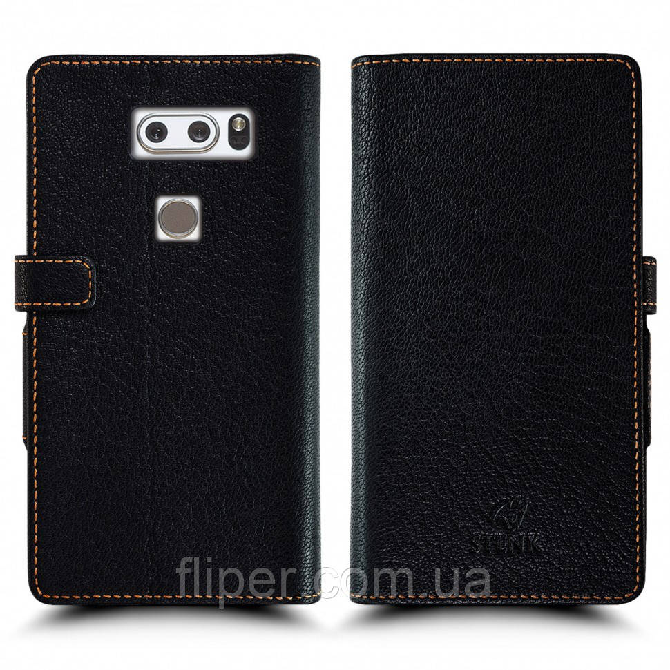 Чехол книжка Stenk Wallet для LG V30/ LG V30 Plus Чёрный (60421)