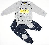 """Теплый спортивный костюм серым цветом для мальчика """"Бэтмен"""""""