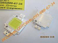 Светодиод 10Вт яркий белый 9-12v