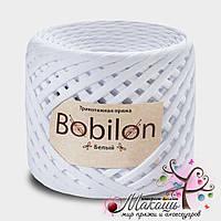 Трикотажная пряжа Бобилон Medium 7-9 мм, белый