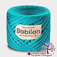 Трикотажная пряжа Бобилон Medium 7-9 мм, голубая лагуна