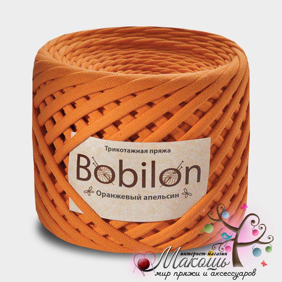 Трикотажная пряжа Бобилон Medium 7-9 мм, оранжевый апельсин