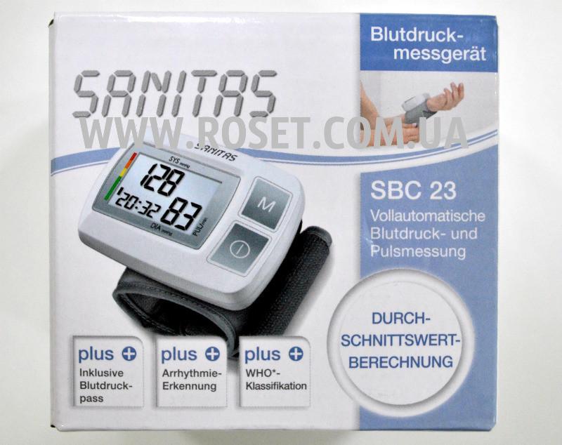 Тонометр автоматичний на зап'ясті - Sanitas SBC 23