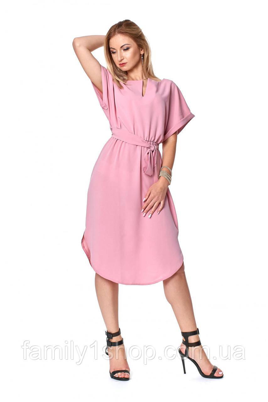 55e3cbd1207 Летнее однотонное легкое платье прямого кроя.  продажа
