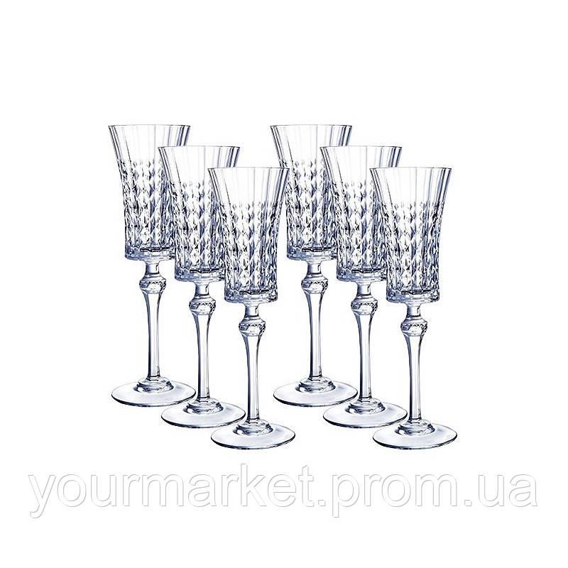 Набор бокалов для шампанского Eclat Lady diamond 150 мл 6 пр L9742