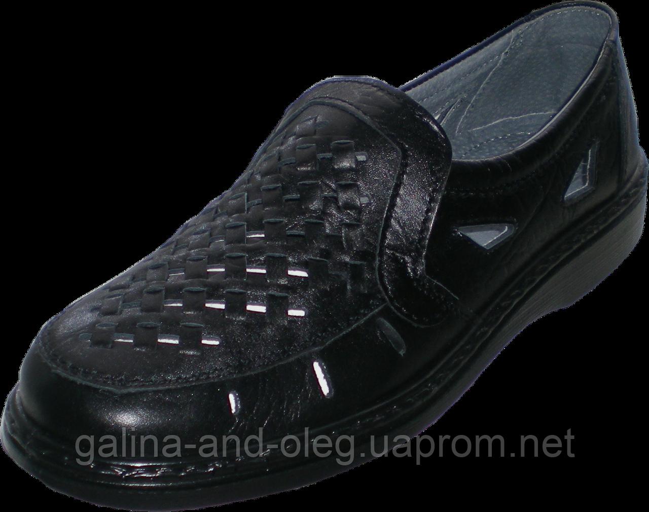 Літні туфлі з натуральної шкіри Тигина