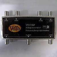 Коммутатор спутниковый DiSEqC 6x1 Switch VoTo