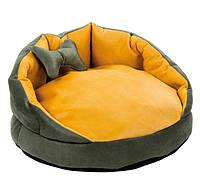 """Лежак для собак """"БУШЕ"""" 2  63*63*30 см хаки/охра"""