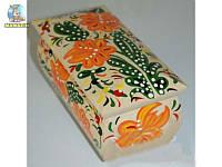 Деревянная лакированная шкатулка с ручной росписью