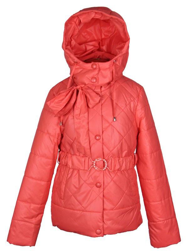 Куртка подростковая демисезонная  Moonbox  для девочки  от 9 до 12 лет коралловая